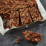 Chocolate and Strawberry Granola Breakfast Bars