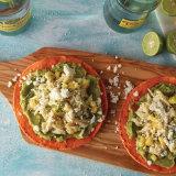 Citrus Marinated Blue Crab Avocado Tostadas