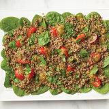 Columbian Quinoa Spinach Salad