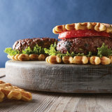 Cowboy Burgers with Cornbread Waffles