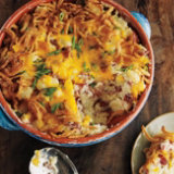 Creamy Pepper Smashed Potato Gratin