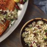 Crispy Salmon with Artichoke Cauliflower Rice