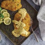 Crunchy Lemon Pepper Rockfish with Aji Hollandaise