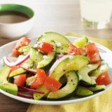 Cucumber, Tomato, Avocado & Feta Salad