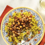 Curried Lentils and Chickpeas Over Atry Smoked Basmati Rice