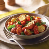 Curry Dusted Roasted Potato and Spinach Salad