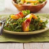 Donut Peach, Arugula And Pluot Salad