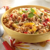 Easy Fajita Peppers Fried Rice