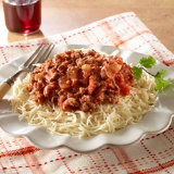 Fideo Pasta With Meat Sauce