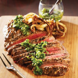 Flank Steak with Chimichurri Salsa