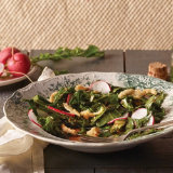 Fresh Collard Greens Salad with Tart Cranberry Dressing
