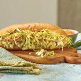 Fresh Fish Torta with Tomatillo Slaw