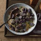 Garlicky Parmesan Roasted Purple Potatoes