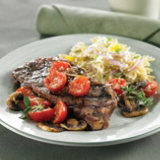 Greek-Seasoned New York Strip Steaks