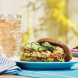 Greek-Spiced Chicken Burger