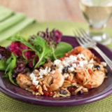 Greek-Style Shrimp and Orzo