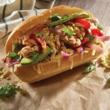 Green Chile Chicken Cheesesteak Torta