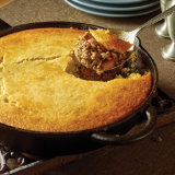 Green Chili Beef Tamale Pie