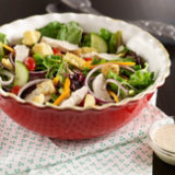Green Salad with Chicken & Pepper