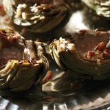Grilled Artichokes Brushed with Smoked Garlic Fat