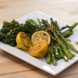Grilled Asparagus and Broccolini
