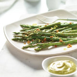Grilled Asparagus with Avocado Aioli
