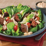 Grilled Burger Salad with Buffalo Blue Cheese Dressing