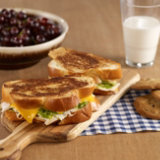 Grilled Chicken, Cheese and Pesto Sandwich