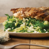 Grilled Chicken with Shaved Cabbage and Kale