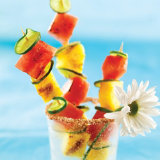 Grilled Pineapple and Watermelon Skewers