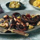 Grilled Pulpo with Pimentón and Olives (Octopus)