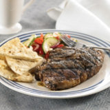 Grilled Ribeye Steaks With Greek Rub