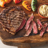 Grilled Ribeyes with Hot Mustard Butter