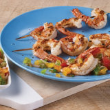 Grilled Shrimp with Spicy Za'atar Relish