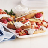 Grilled Strawberry Shortcake with Honey Butter Soft Cream
