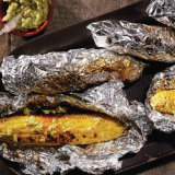 Grilled Sweet Corn with Avocado Butter