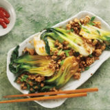 Ground Chicken and Bok Choy Stir Fry