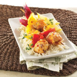 Hawaiian BBQ Seafood Skewers