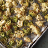 Herb Butter Roasted Broccoli & Cauliflower