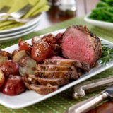 Herb-Crusted Leg of Lamb with Potatoes