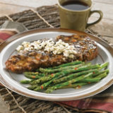 Herb-Marinated Beef Steaks With Asparagus