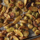 Herb Roasted Potatoes and Brussels Sprouts