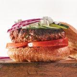 Homemade Merguez Spiced Lamb Burger