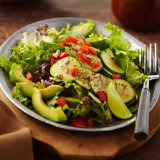 Honey-Lime Vegetable & Spinach Salad