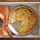 Horchata Pumpkin Pie with Cheesecake Swirl