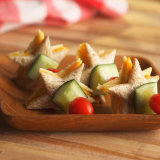 Hummus & Cheese Star Kabobs