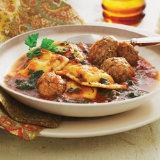 Italian Meatballs with Ravioli Dinner