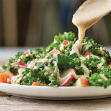 Kale and Quinoa Salad with Creamy White Bean Dressing