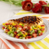Mango Ginger Chicken With Fresh Fruit Salsa