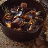 Mussels with Chorizo and Cerveza